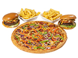 Large Pizza & Burgers Deal image