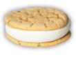 Vanilla White Chocolate Chip Cookie Ice Cream Sandwich image